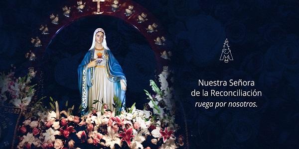 Banner para la página de la Novena a Nuestra Señora de la Reconciliación