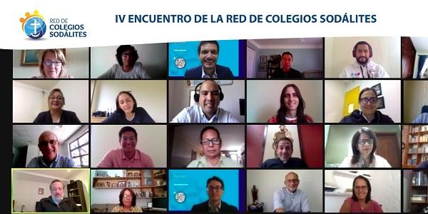 Captura del IV Encuentro de la Red de Colegio Sodálites realizado online
